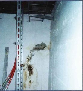 Bauwerksabdichtung, Wand vor der Sanierung