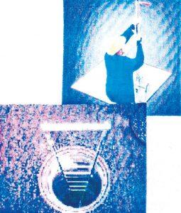 Bild zeigt Mann bei der Arbeit, Einstiegshilf